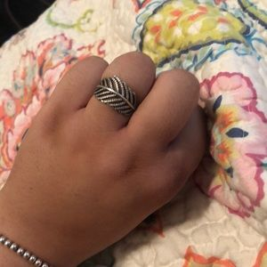 Pandora light as a feather silver ring